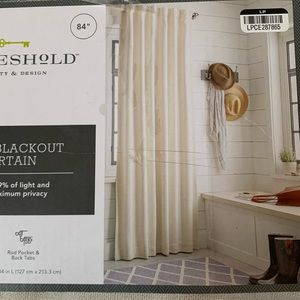 """New Threshold black out cream curtain panel 84"""""""